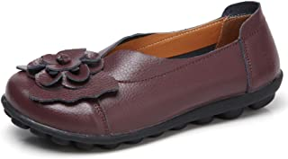 ANYUETE Women's Slip on Loafers Leather