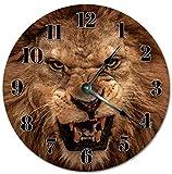 Alfery33red 30,4 cm FERCE LION FACE Reloj Sala Reloj Grande 30,5 cm Reloj de pared Decoración del Hogar Reloj 5097