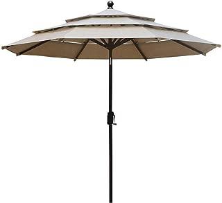 15' outdoor patio market double-sided umbrella