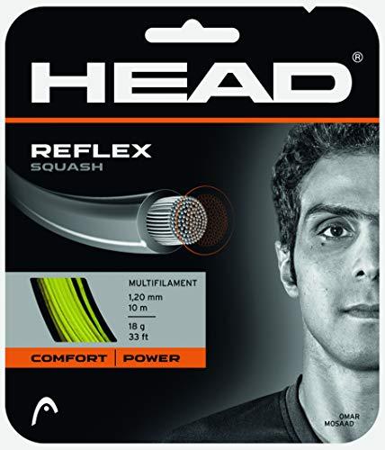 HEAD Reflex Squash String - 18 Gauge Nylon Multifilament Premium Squash String Reel