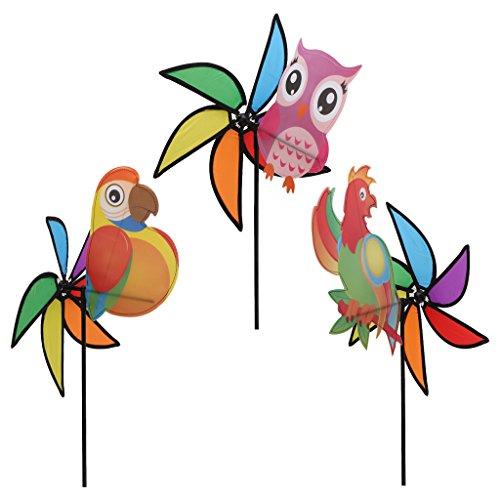Grand adorable animal 3D coloré arc-en-ciel pour enfants Jouet de vent Spinner Jardin Party Outdoor Decor New