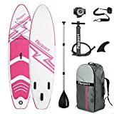 Premium Inflatable Stand Up Paddle Board (6 inches Thick) with Durable SUP Accessories