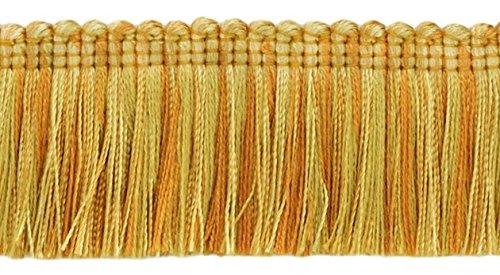 DÉCOPRO 24.7 Meter Value Pack Brush Fringe Trim 45mm Style#: 0175HB Color: 4875 (Medium & Light Gold)