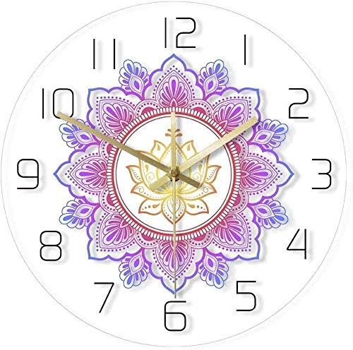 youmengying Co.,ltd Reloj De Pared Mandala Y Lotus Reloj De...