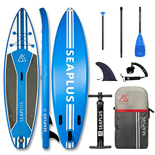 "Paddle Surf Hinchable Tabla Stand Up Paddle Board Rígida Doble Capa con Accesorios de Remo de Carbono/Inflador/Leash/Mochila, Carga hasta 140 Kg, Legend 10'6""*32""*6"""