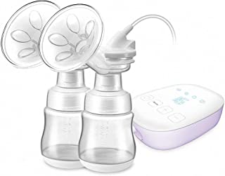 2-in-1 Double Electric Breast Pump Ultra-Quiet Milk Pump Smart Breastfeeding Pump Portable with Full Touchscreen LED Displ...
