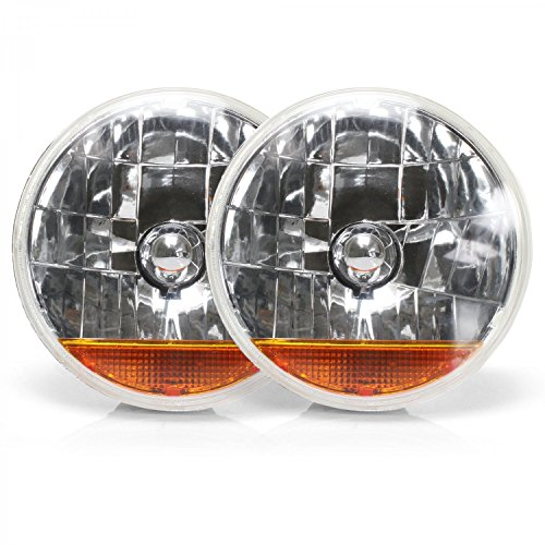 Ass-DG 7' Inch Halogen Lens Assembly with Amber Turn Signal Pair JLM922D6