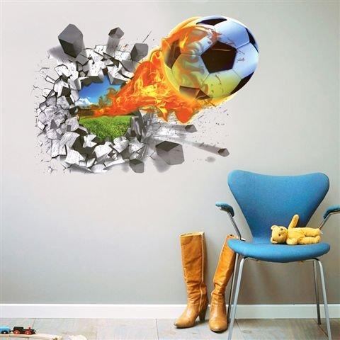 3D muursticker voetbal muurtattoo muurschilderingen sticker zelfklevend