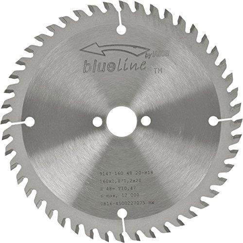 AKE 91471604820-B18 Kreissägeblatt HW, Durchmesser 160 x 1,2 x 20 mm Z48 Flach-Trapezzahn, positiv