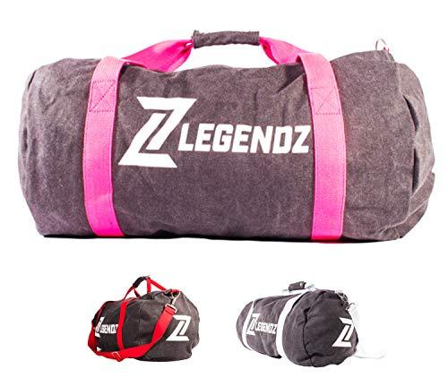 LegendZ Sporttasche - Fitnesstasche mit abnehmbarem Schulterriemen & Reissverschluss Fächer (Damen & Herren) Reisetasche -Gym Tasche, Travel Bag, Trainingstasche für Sport & Bodybuilding pink