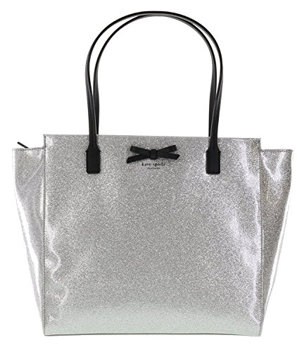 Kate Spade Mavis Street Taden Tote Bag Purse Handbag Shoulder Bag in Silver (040)