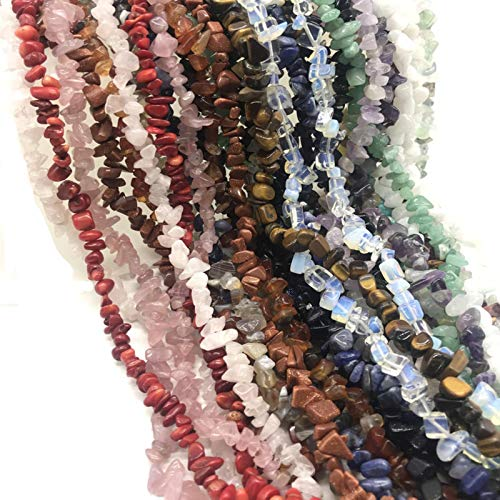 FISH4 Natural Stone Beads Chips Beads 5-8Mm Crystal Strand 16 Inch Lrregular Gravel Beads Diy Bracelet For Jewelry Making-Pink