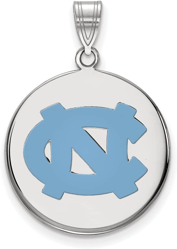 North NEW before selling Carolina Large 3 4 Inch Sl Disc Sterling Pendant Mail order cheap Enamel
