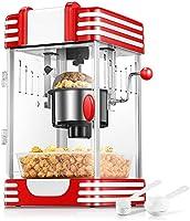 Popcornmaschine, Profi Retro Heiße Butter 300W Popcorn Maschine, 120g Große Kapazität, mit Retro Light,...