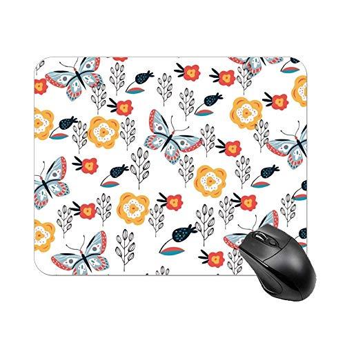 Preisvergleich Produktbild Mauspad Blumenmustergrafiken Natürliche Sammlung Mousepad für Laptop,  Desktop-Computer Büromaterial Mausmatte