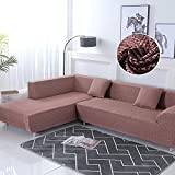 WXQY Fundas elásticas, Funda elástica para sofá, protección para Mascotas, Funda para sofá, Esquina en Forma de L Antideslizante, Funda para sofá Antideslizante A19, 3 plazas