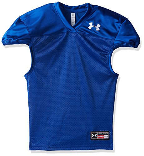 Under Armour Boys' Football Jersey, Royal /White, Youth Large