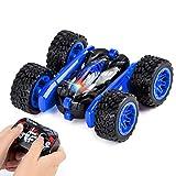 Sundaymot Voiture Télécommandée - 4WD RC Stunt Car avec Batterie Rechargeable, Rotation à 360 Degrés Camion Radiocommandée, Voiture Jouet Cadeaux pour Enfants de 6 à 12 Ans (Bleu)