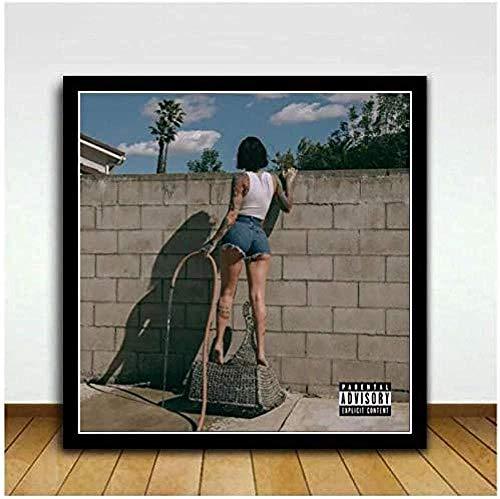 NC87 Kehlani It Was Good Until It WASN t Art Music Álbum de Pintura Póster Impresiones Arte Lienzo Cuadros de Pared para la Sala de Estar Decoración del hogar 20X20 Pulgadas Sin Marco