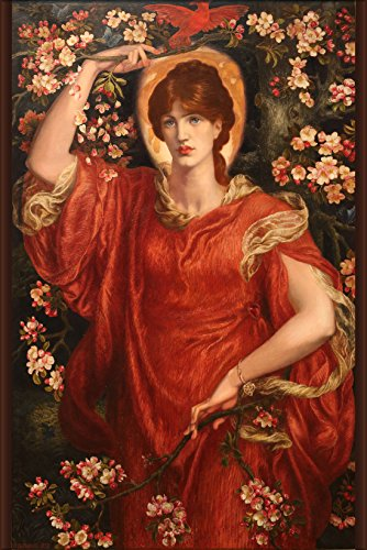 "History Galore 24""x36"" Gallery Poster, A Vision of Fiammetta by Dante Gabriel Rossetti"