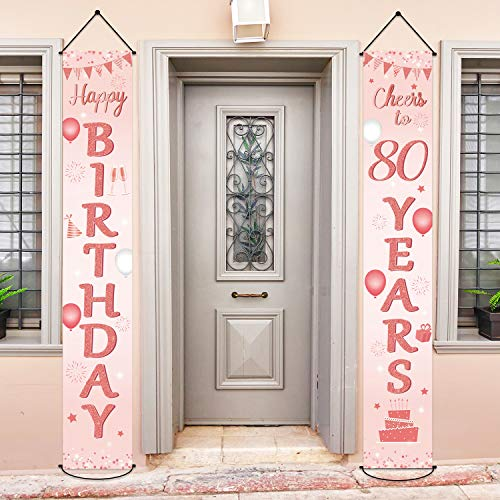 Rose Gold Welcome Porch Sign (Set of 2)