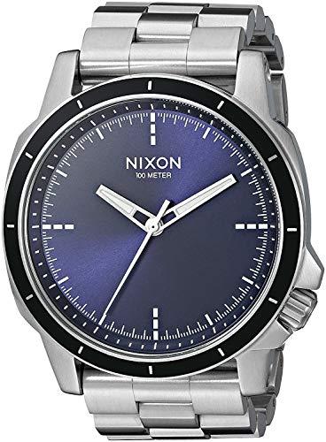 Nixon Herren Analog Quarz Uhr mit Edelstahl Armband A913-1258-00
