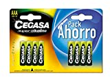 CEGASA Superalkaline - Pack 8 Pilas LR03, Color Verde