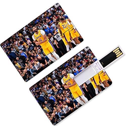 Chiavette USB Thumb Drives Anthony Los Angeles Giocatore di basket 3 Forma di carta di credito La fronte Davis Lakers Super Star Crea la zona del basket Difesa Memoria su disco U Archiviazione New Orl