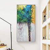 Pintura sin Marco Modernos Carteles e Impresiones de Plantas Decorativas sobre Lienzo, Arte de Pared en la Sala de estarZGQ5581 30X60cm