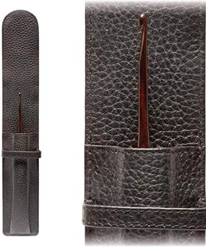 Furls 100% quality warranty Leather Omaha Mall Single Crochet Holder - Hook Black