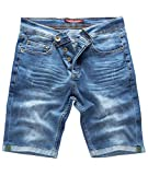 Rock Creek Herren Shorts Jeansshorts Denim Short Kurze Hose Herrenshorts Jeans Sommer Hose Stretch Bermuda Hose Blau RC-2201 Darkblue W38