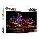 ZTCLXJ 1000 Piezas Challenge Puzzle Sets 1000 Piezas para Niños Puzzle Edificio De La Ópera De Sydney para Niños Niñas Juguetes para Niños para La Decoración De La Pared De La Casa 20 X 15 Pulgada