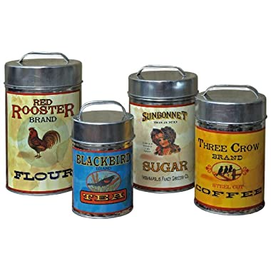 Vintage Canisters: Sugar, Flour, Coffee, Tea