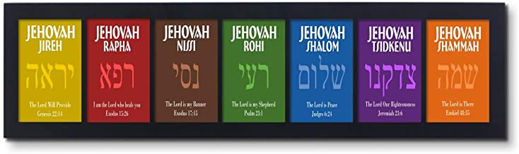 The Seven (7) Redemptive Names of God - Comes as a Single Set of 7 Images in one Frame (1)
