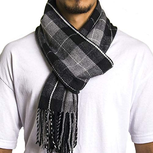 Alpine Swiss Mens Plaid Scarf So...