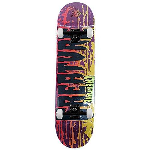 Creature Skateboard Retro macchie viola Skateboard completo 8.26'