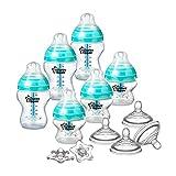 Tommee Tippee Advanced Anti-Colic Newborn Baby Bottle Feeding Set, Heat Sensing Technology, BPA-Free