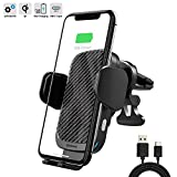 ZOOAUX Fast Wireless Car Charger Vent Mount, Automatic Clamping 10W/7.5W Fast Charging Air Vent for Car Compatible iPhone 11/11 Pro/11 Pro Max/Xs MAX/XS/XR/X/8/8+,Samsung S10/S10+/S9/S9+/S8/LG V30/etc