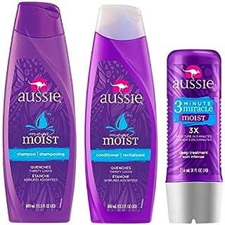 Aussie Kit Shampoo + Condicionador 400 ml Moist + Miracle 236 ml