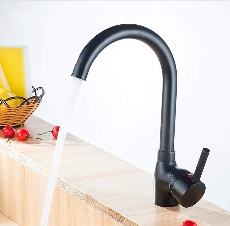 Moderne Einhand-Küchenmischer warmes und kaltes Wasser Flexible Küchenarmatur Schwarz Küchenarmatur Spültischbatterie