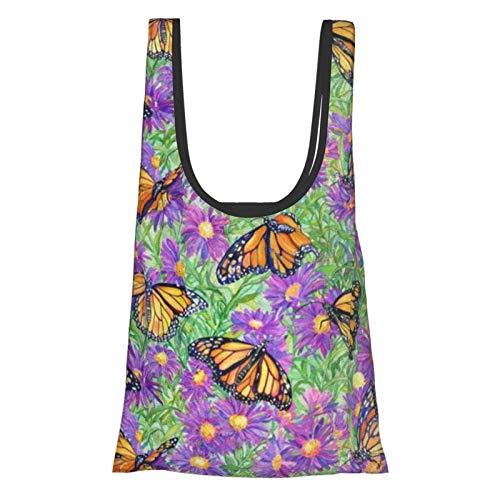 Bolsa de la compra con diseño de bola de mariposa, cómoda, moderna, reutilizable, respetuosa con el medio ambiente.