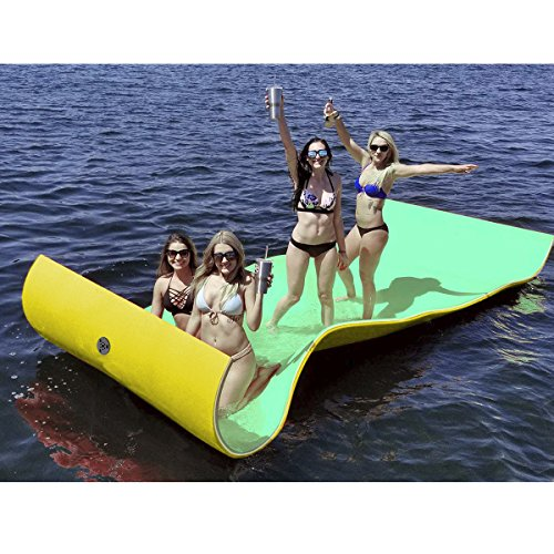 Goplus Floating Water Pad Mat, Tear-Resistant XPE Foam, Bouncy and Durable Material, for Pool, Beach, Ocean, Lake (11.5' x 6')