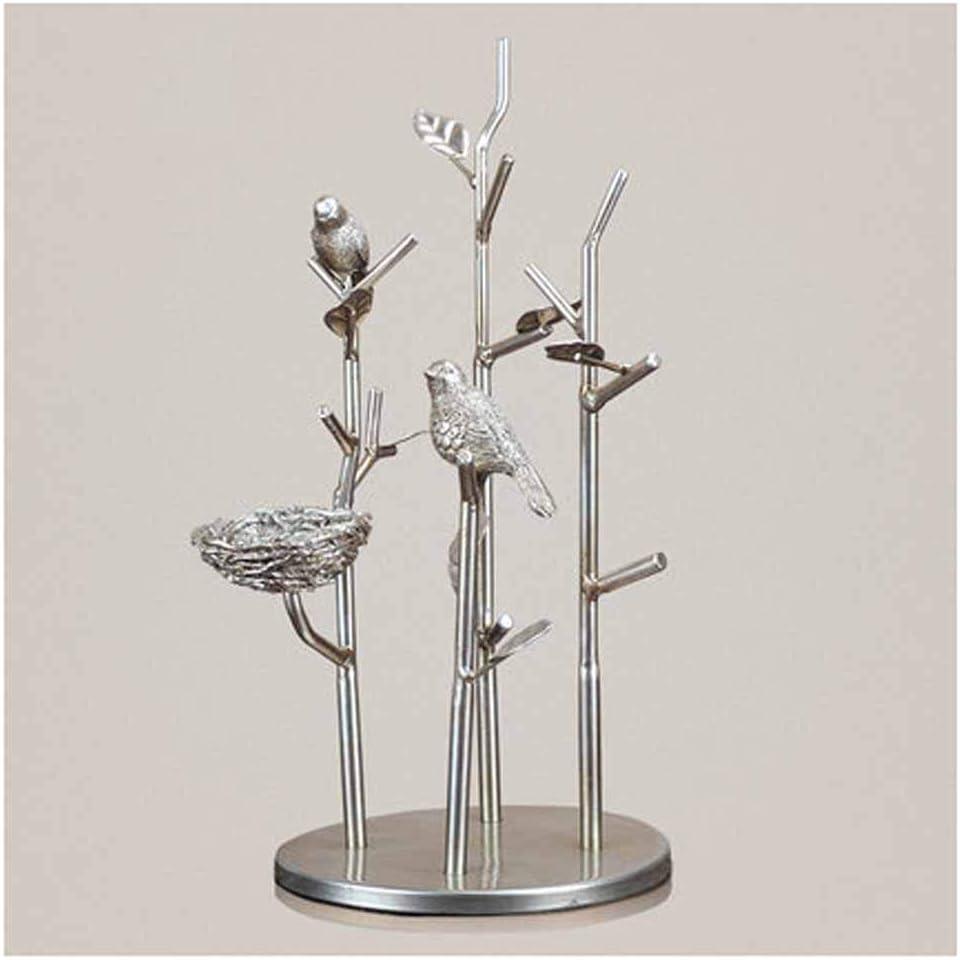 JPVGIA Ramita Creativa Marco de la Llave Marco de la joyería Marco de la joyería Que cuelga Decoración del Arte Sala de Estar Vinoteca Tocador artesanía Regalos (Color : Silver3)