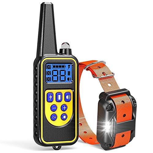 Fortschrittliches ferngesteuertes bellenloses Hundetrainingshalsband, geeignet für große und kleine Hunde, Abschreckvorrichtungen, elektronisches wasserdichtes Fernbedienungshalsband