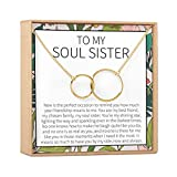Best Friend Gift Necklace: BFF, Long Distance, Friends Forever, Friends, 2 Interlocking Circles...