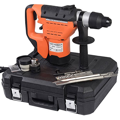 SDS Rotary Hammer,1100W 110VElectric Rotary Hammer Drill it comes with drill bits, chisels, lubrication, boot, gloves,1-1/2' SDS Electric Hammer Drill Set