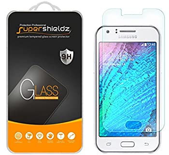 2 Pack  Supershieldz Designed for Samsung Galaxy J1  Verizon  Tempered Glass Screen Protector Anti Scratch Bubble Free