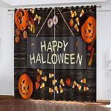 YTSDBB Cortinas Dormitorio Linterna de Calabaza de Halloween Ancho 150 x Altura...