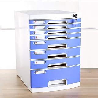 Classeur avec tiroir Fichier plat plat Classeur plat Boîte de rangement Informations meubles Archives Cabinet 8 tiroirs en...
