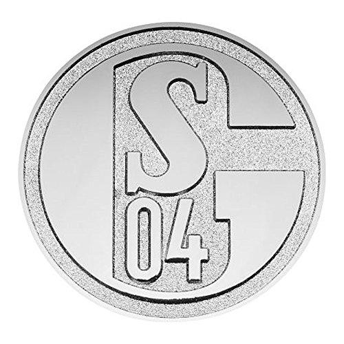 3D Chromlogo Autoemblem Aufkleber FC Schalke 04 S04